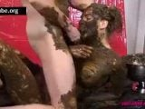 scat gold gangbang video with hamster domino